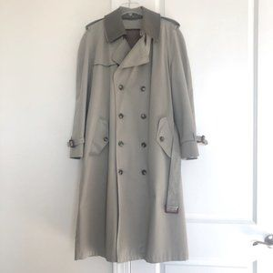Stafford Men's Trench Coat with Zip In Lining